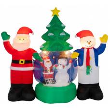 3D фигура надувная Neon-night Дед Мороз и Снеговик 511-053 (2.1м)