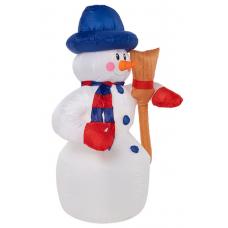 3D фигура надувная Neon-night Снеговик с метлой 511-121