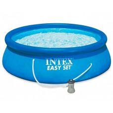Надувной бассейн Intex Easy Set 28142 (396x84 см) + фильтр-насос