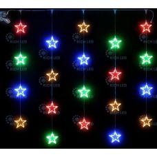 Светодиодный узорный занавес Rich LED Звезды