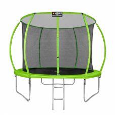 Батут Alpin Sky 12ft - 374 см с защитной сеткой и лестницей