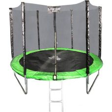 Батут Atlas Sport 312 см - 10ft Basic (с лестницей, зеленый)