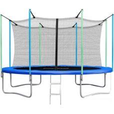 Батут Atlas Sport 374 см - 12 ft с сеткой и лестницей
