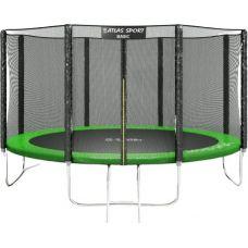 Батут Atlas Sport 404 см - 13ft Basic (с лестницей, зеленый)