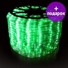 Дюралайт LED-Raund-3W-1M-220V зеленый /1М