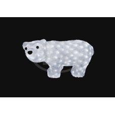 "Фигура Neon-night ""Белый мишка"" 15*25 см"