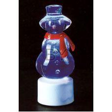 """Фигура Neon-night """"Снеговик с шарфом на подставке"""""""