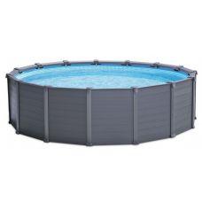 Каркасный бассейн Intex Graphite Gray Panel 26384 (478х124 см)