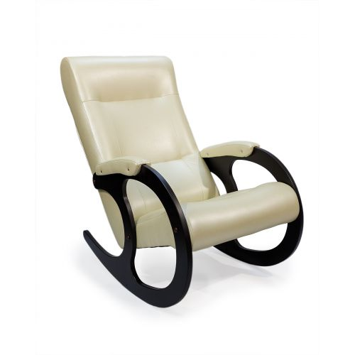 Кресло-качалка Бастион 3 экокожа (BONE)