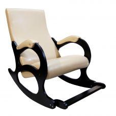 Кресло-качалка Бастион 4-2 с подножкой экокожа (селена крем)