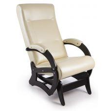 Кресло-качалка Бастион 6 гляйдер (экокожа, bone/черный)