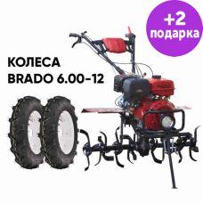 Культиватор Brado GT-1400SL + колеса Brado 6.00-12 (комплект)