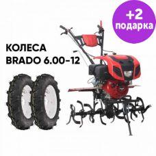 Культиватор Brado GT-1400SX + колеса Brado 6.00-12 (комплект)
