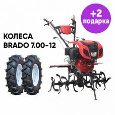 Культиватор Brado GT-1400SX + колеса Brado 7.00-12