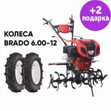 Культиватор Brado GT-1600SX + колеса Brado 6.00-12 (комплект)