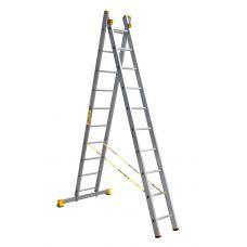 Лестница двухсекционная профессиональная Алюмет P2 9210