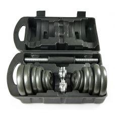 Набор металлических гантелей в чемодане ATLAS SPORT 20 кг