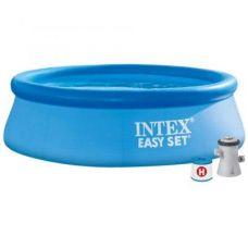 Надувной бассейн Intex Easy Set / 28108NP (244x61 с фильтром и насосом)