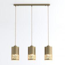 Подвесной светильник с металлическими плафонами Eurosvet 50071/3 античная бронза