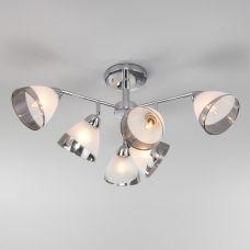 Потолочная люстра со стеклянными плафонами Eurosvet 30126/6 хром