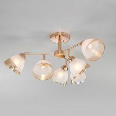 Потолочная люстра со стеклянными плафонами Eurosvet 30126/6 золото