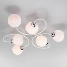 Потолочная люстра со стеклянными плафонами Eurosvet 30136/6 белый