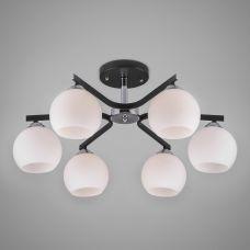 Потолочная люстра со стеклянными плафонами Eurosvet  30145/6 хром/венге