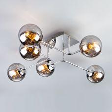 Потолочный светильник с круглыми стеклянными плафонами Eurosvet 30140/6 хром