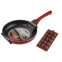 Сковорода Perfecto Linea 26 см Titanium + Форма для выпечки силиконовая