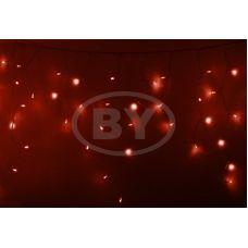 """Светодиодная бахрома """"Айсикл прозрачный"""" Neon-night 4.8*0.6 м красный"""