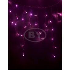 """Светодиодная бахрома """"Айсикл прозрачный"""" Neon-night 4.8*0.6 м розовый"""