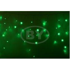 """Светодиодная бахрома """"Айсикл прозрачный"""" Neon-night 4.8*0.6 м зеленый"""