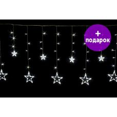 Светодиодная бахрома-звезда Winner Light 2.5*0.95 м белый