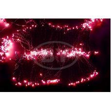 """Светодиодная гирлянда Neon-night """"Клип лайт"""" розовый 5 нитей по 20 м"""