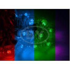"""Светодиодная гирлянда Neon-night """"LED Galaxy Bulb String"""" мультиколор, черный каучук"""