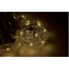 "Светодиодная гирлянда Neon-night ""LED Galaxy Bulb String"" теплый белый, белый каучук"