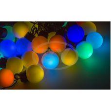 "Светодиодная гирлянда ""LED шарики"" RGB 10 м Ø 30 мм"