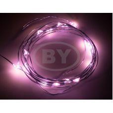 Светодиодная гирлянда Neon-night «Роса» розовый 2 м
