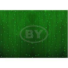 Светодиодная занавес Neon-night 2*1.5 м зелёный, прозрачный ПВХ