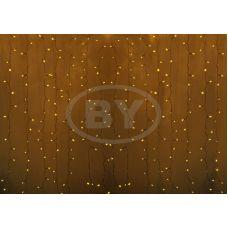 Светодиодная занавес Neon-night 2*1.5 м желтый, прозрачный ПВХ