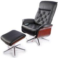 TV-кресло Calviano 95 с пуфом (черный)